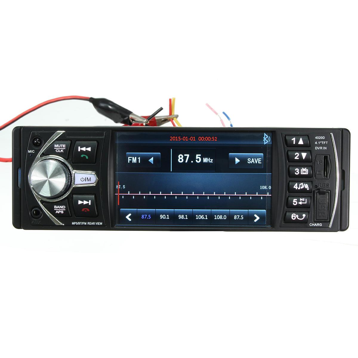 4.1 дюймов HD Bluetooth в Dash Авто Стерео аудио MP5 MP3-плеер USB AUX FM AM Радио
