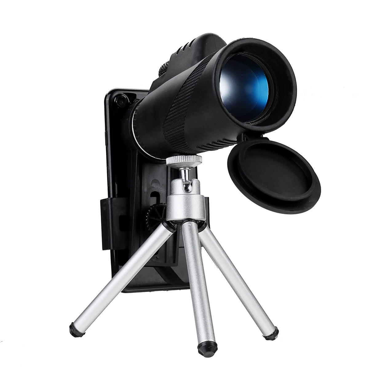 40X60 Monocular HD Optic Day Night Vision Telescope With Phone Clip Tripod Outdoor Camping Travel