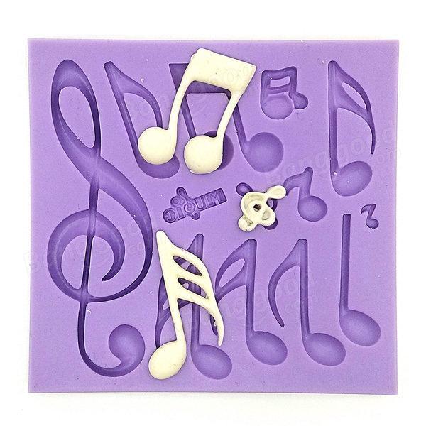 Note musicali della torta del fondente di cioccolato stampo in silicone stampo attrezzo della torta che decora