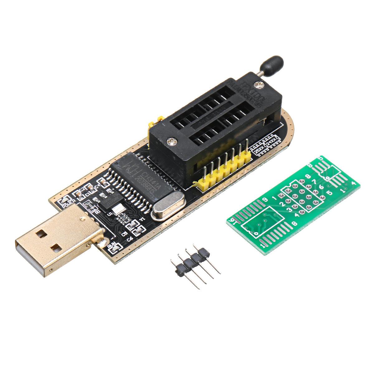 SPI FLASH BIOS USB Programmer Writer Burner 24 25 Serie USB To TTL CH341A