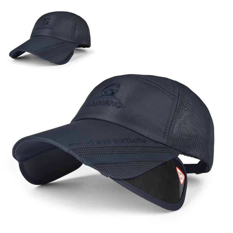 a1b908af41b Unisex Men Women Polyester Mesh Wide Brim Baseball Cap Adjustable  Breathable Outdoor Hat COD