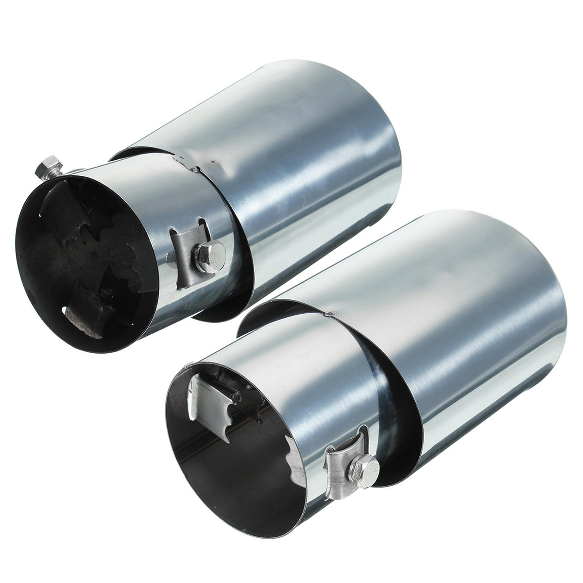 Universal Car Exhause Muffler Stainless Steel Pipe Modified Rear Tail Throat