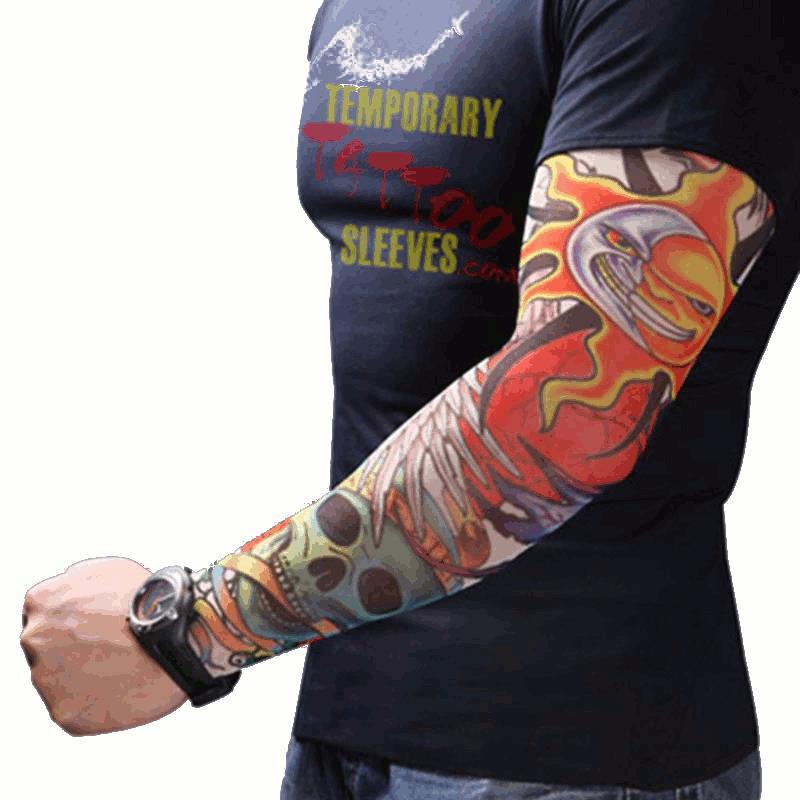 Мужчины Женское Nylon Тату Рукава рукава Упругие Прохладный UV Защита от солнца Велоспорт Рыбалка Альпинизм