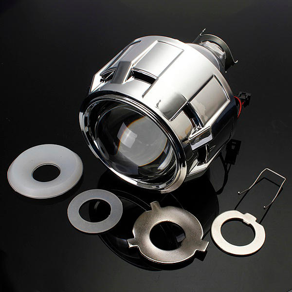 2.5 Inch Motor Bi-xenon HID Projector Angle Eye Halo Lens Headlight