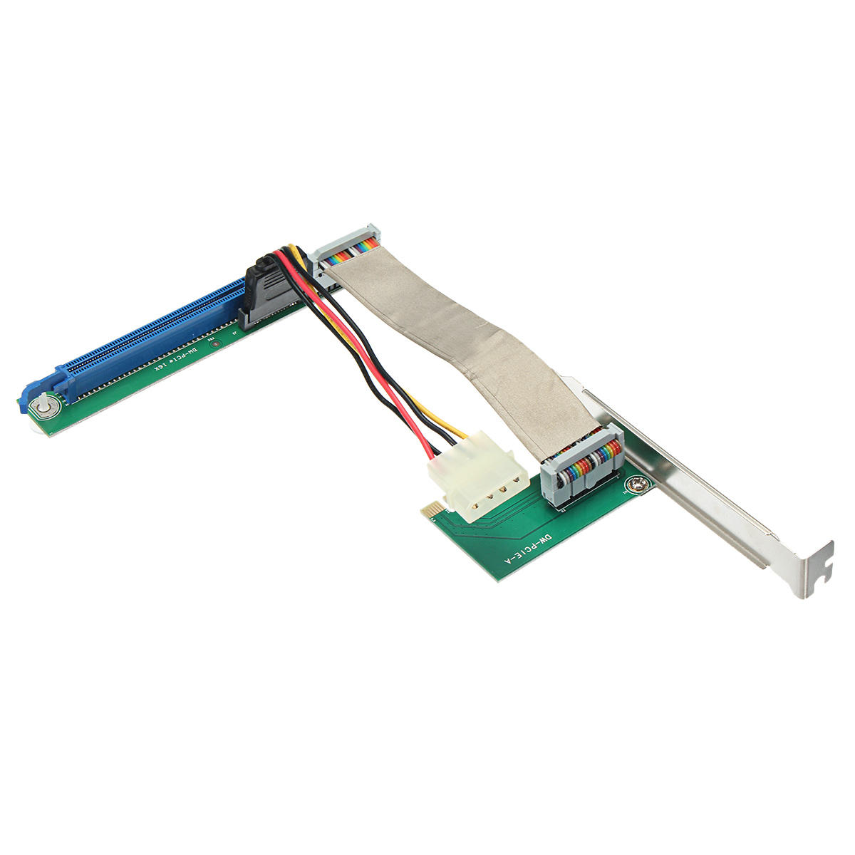 PCIE 1X To 16X 4 Pin Extender Riser Card Adapter Cable Card Cable For Miner