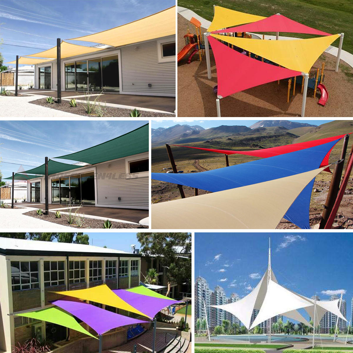 5m Triangle Shade Sail Net Cloth Outdoor Swimming Pool Waterproof Sun Shade Sail Prevent Uv Canopy Home Garden Awning Cover Cap Garden Supplies Shade Sails & Nets