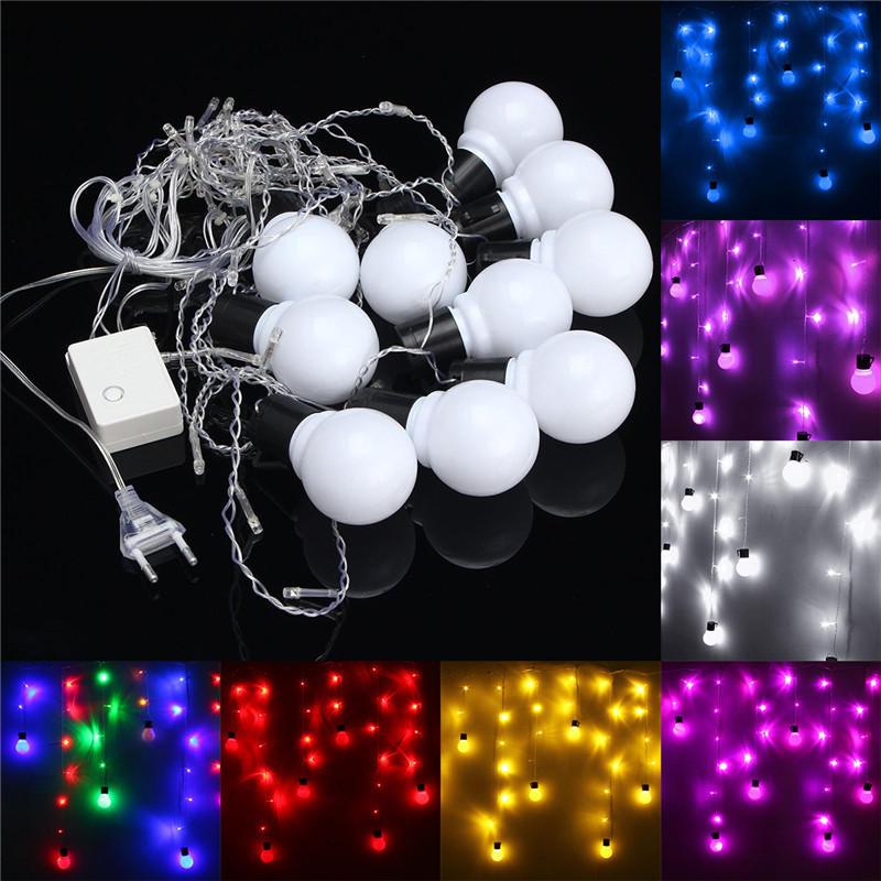 1.5M 10 หลอดไฟบอล LED ไฟเทพธิดา Fairy งานแต่งงาน งานฉลองคริสต์มาสประดับคริสต์มาส Xmas