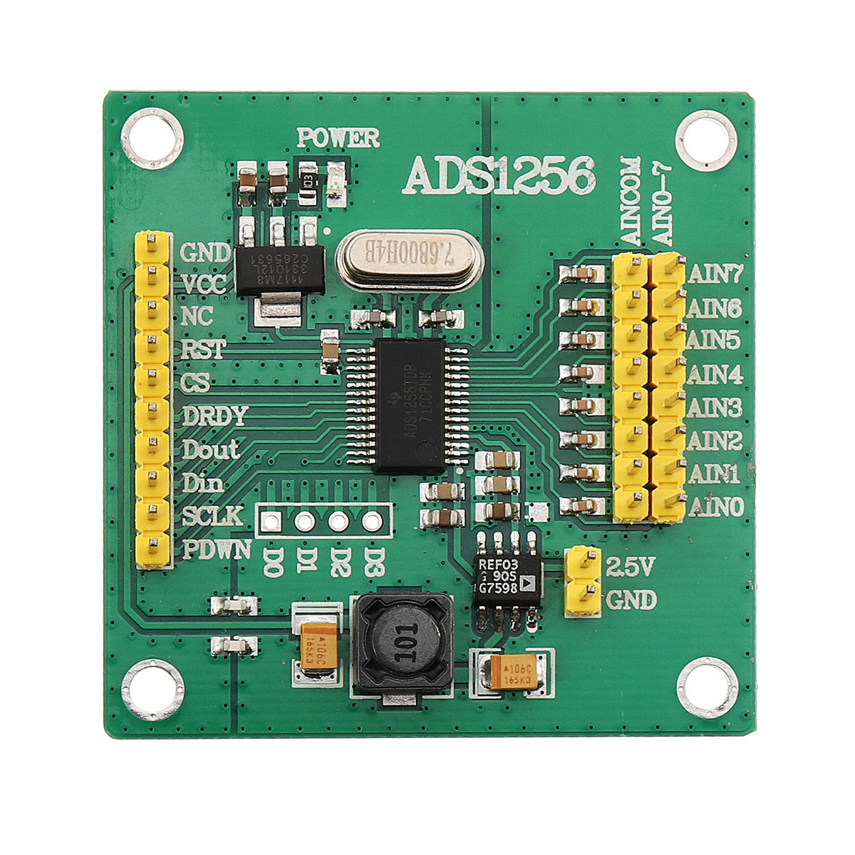ads1256 high-precision adc module conversion 24-bit 8-channel Sale - Banggood.com