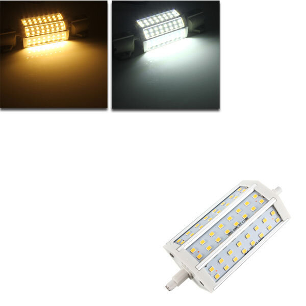 R7S Dimmable LED Bulb 8W 118MM SMD 2835 48 Pure White/Warm White Corn Light Lamp AC 85-265V