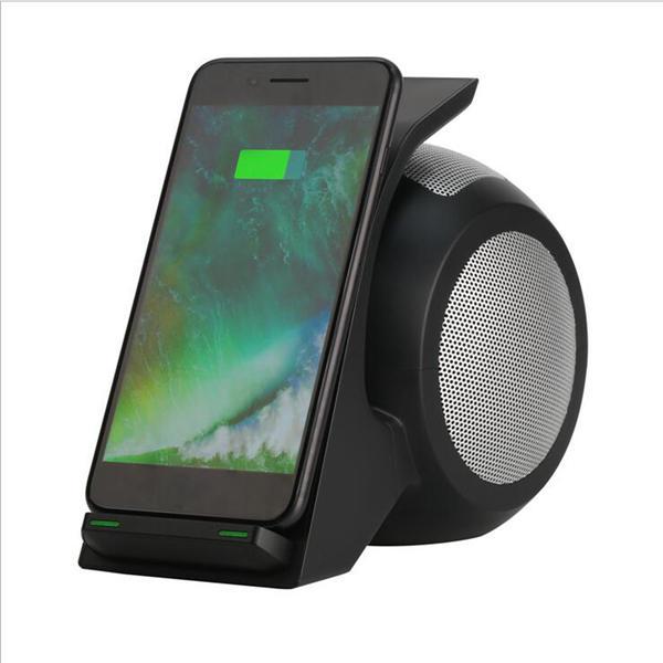 Bakeey 3 en 1 NFC Qi Cargador inalámbrico Bluetooth Altavoz con luz LED para iPhone X 8Plus S8 Note 8