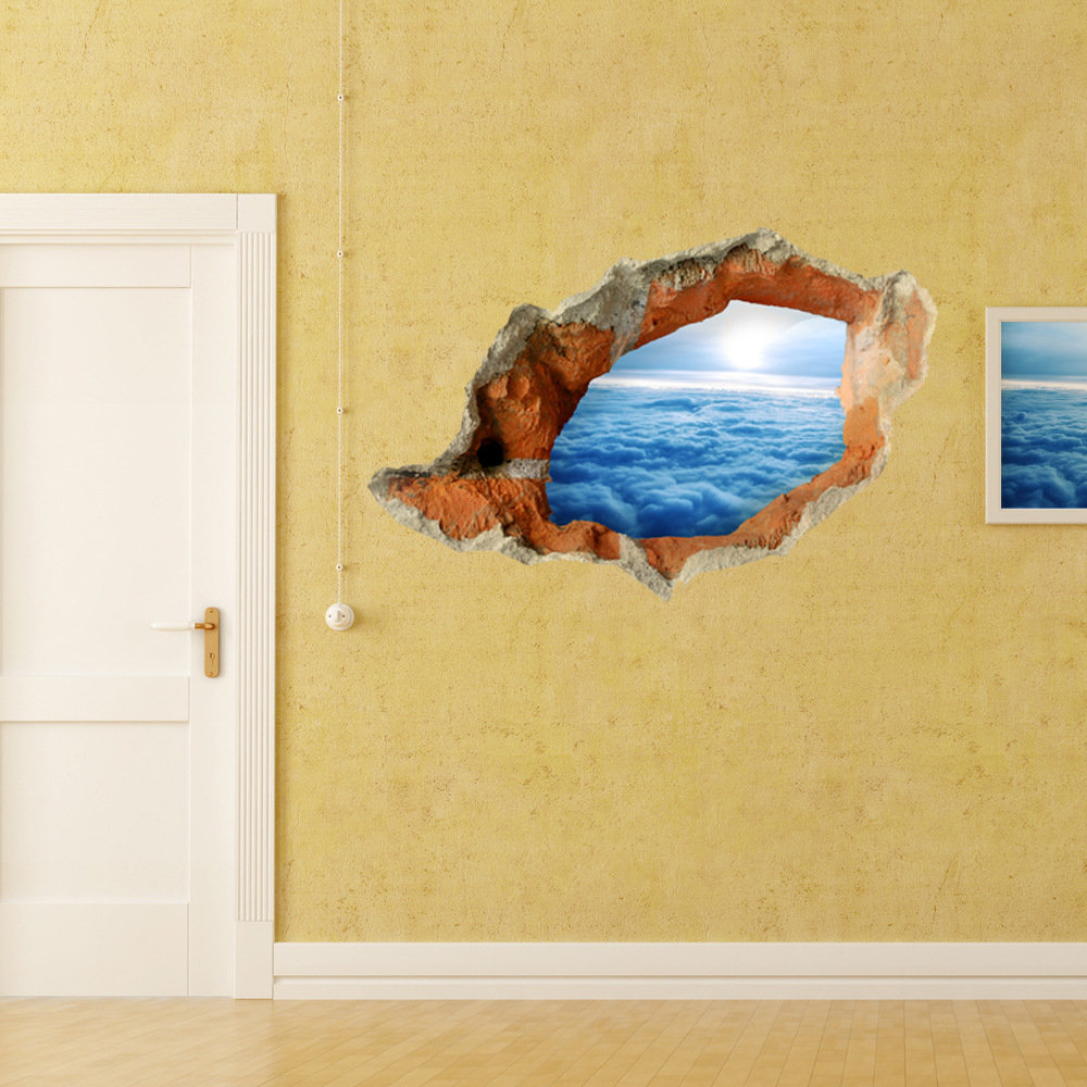 PAG STICKER 3D Wall Decals Cloud Layer Wall Hole Sky Sticker Home ...