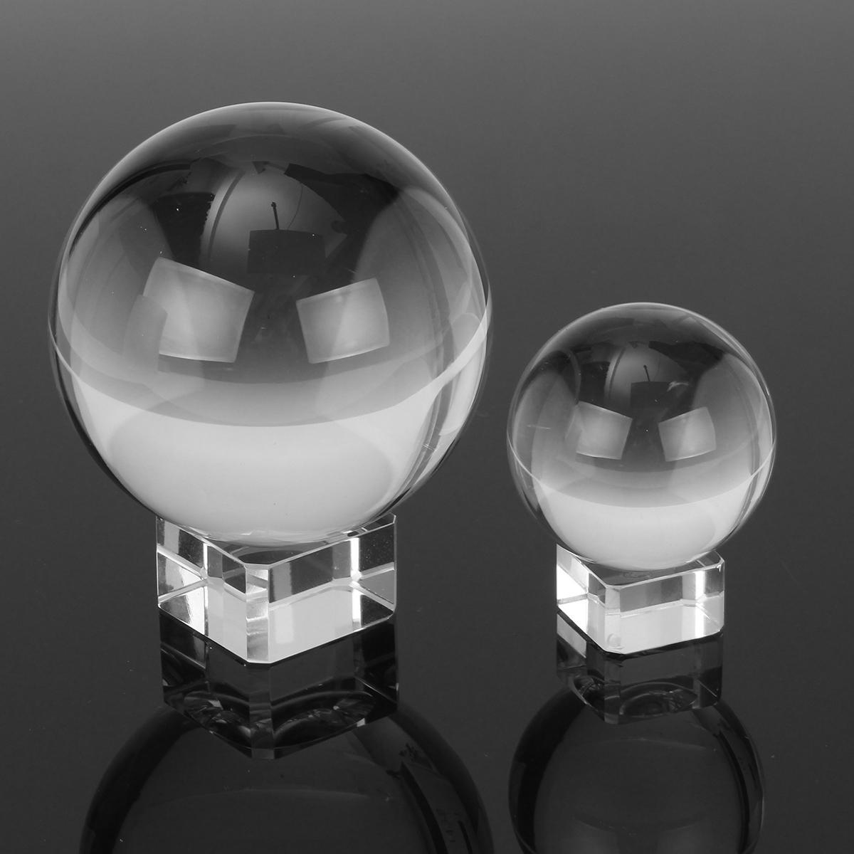 50 / 80mm K9 clair en verre boule de verre photographie Lensball photo Prop fond décorations cadeau
