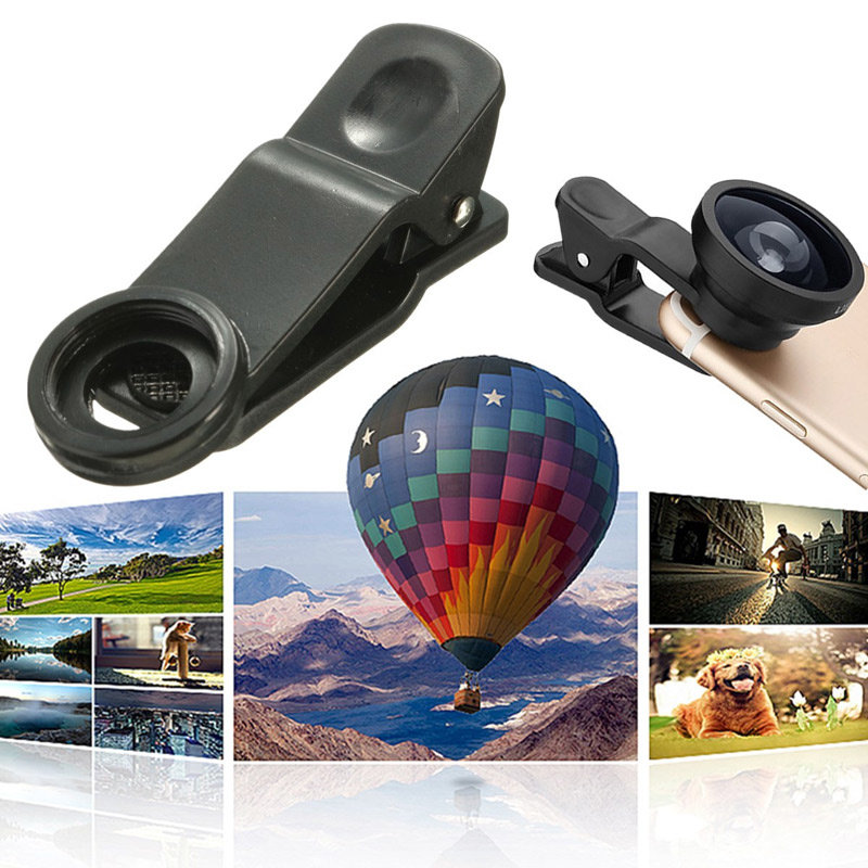 5 In1 2X Zoom Telephoto Macro Wide Fisheye CPL lente Con Clip Per iPhone 6/6s Plus Samsung Xiaomi Huawei