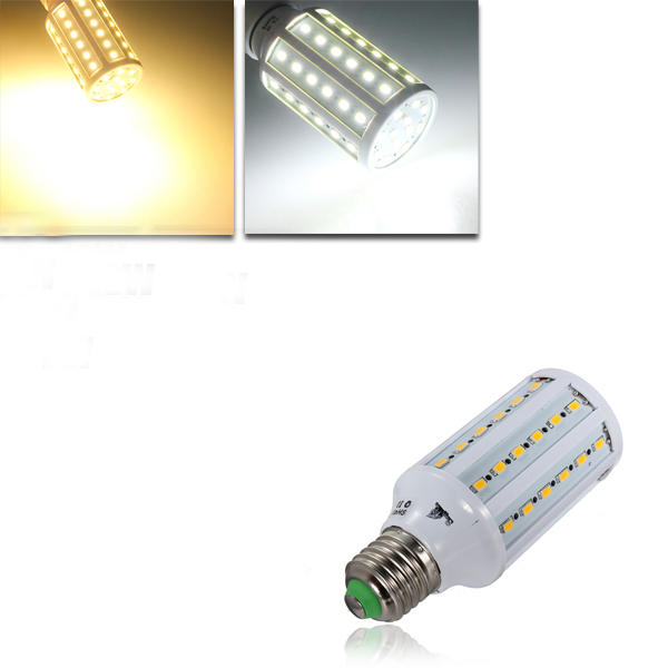 E27 12 วัตต์ Warm White / White 60 SMD 5630 SinglyFire LED หลอดไฟ Corn Bulb 220V