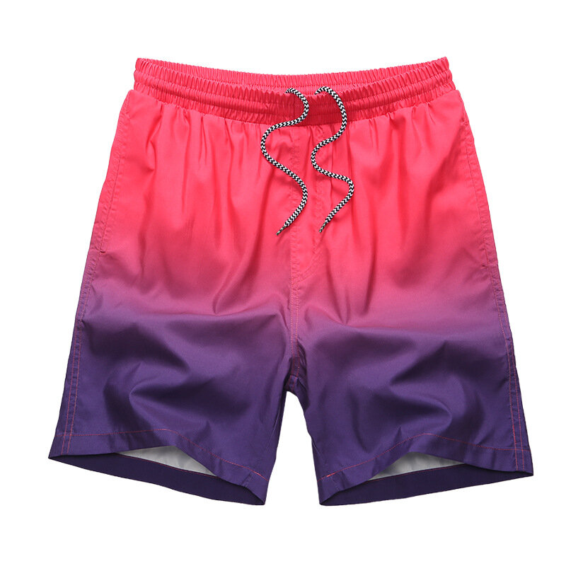 e0103a033c Beach Swimming Sports Casual Printing Breathable Quick Drying Gradient Board  Shorts for Men COD