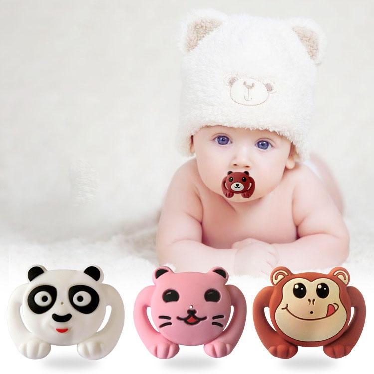 Estilo animal Funny Baby Pacifier Food Grade Silicona Soother Teether Orthodontic Dummy Baby Nipple