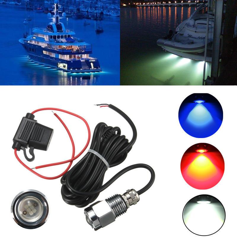 9W IP68 Su Geçirmez Oran 6 LED Araba Bot Drenaj Fiş Işığı