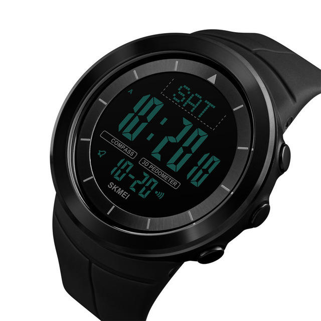 New Brand Outdoor Sports Compass Watches Hiking Men Watch Digital Led Electronic Watch Man Sports Watches Chronograph Men Clock And To Have A Long Life. Men's Watches