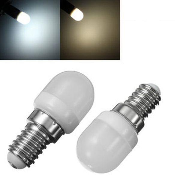 E14 1.5W Mini LED blanco / cálido blanco bombilla hogar araña refrigerador Lámpara AC200-240V