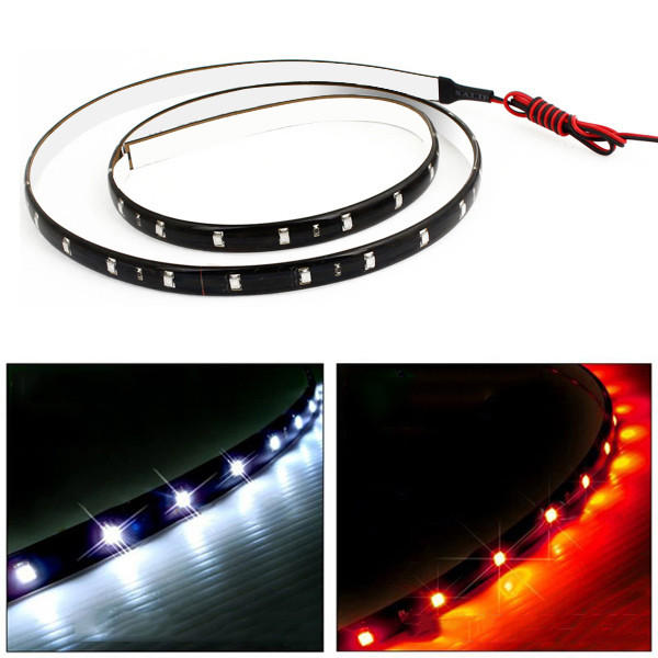 120cm 3528 60LED Car Trucks Grill Flexible Strip Light DC 12V Waterproof