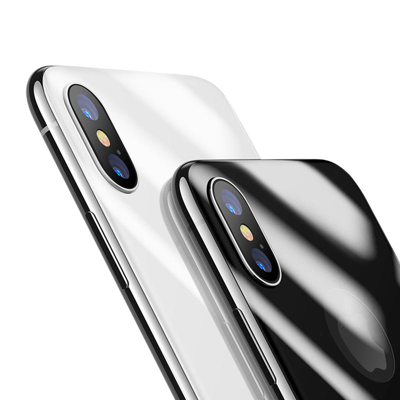 Baseus 4D Arc Edge 0.3mm 9H Back Tempered Glass Film for iPhone X