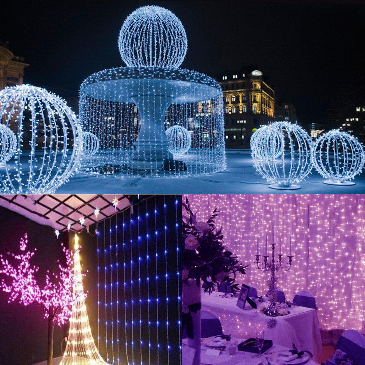3mx3m 300 Led White Bulb Fairy String Light Curtain Lamp Wedding Party Decor Outdoor Li Cod