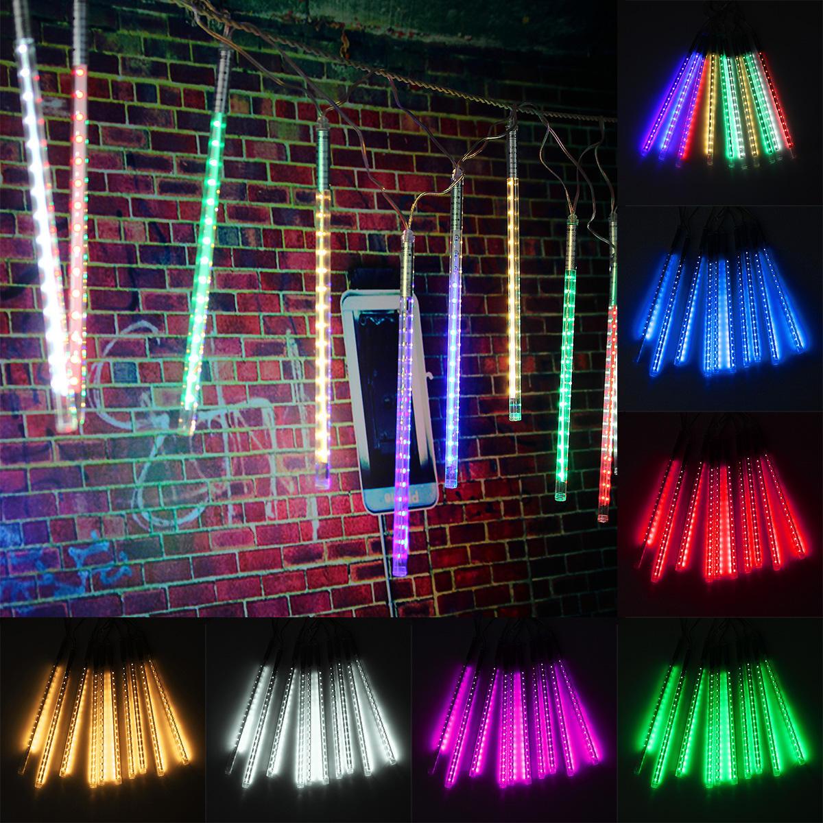 10 หลอด 30CM LED ฝนดาวตกฝนตกฤดูใบไม้ผลิคริสต์มาสคริสมาสต์ String Tree Light