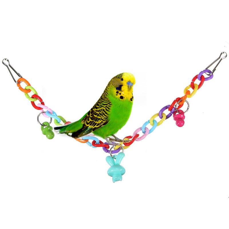 แขวนชิงช้าสะพานสำหรับนกแก้วนกกระเรียน Gnawing ของเล่น Gadget ของขวัญ