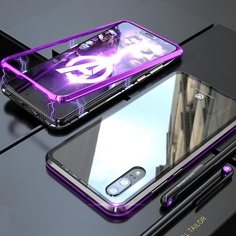 Bakeey 360 ° Manyetik Adsorpsiyon Yükseltilmiş Sürüm Koruyucu Kılıf için Huawei P20 / P20 Lite / P20 Pro