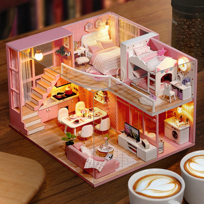 Cuteroom L026 Dream Angle DIY Doll House With Furniture Light Gift House Toy 24.5cm