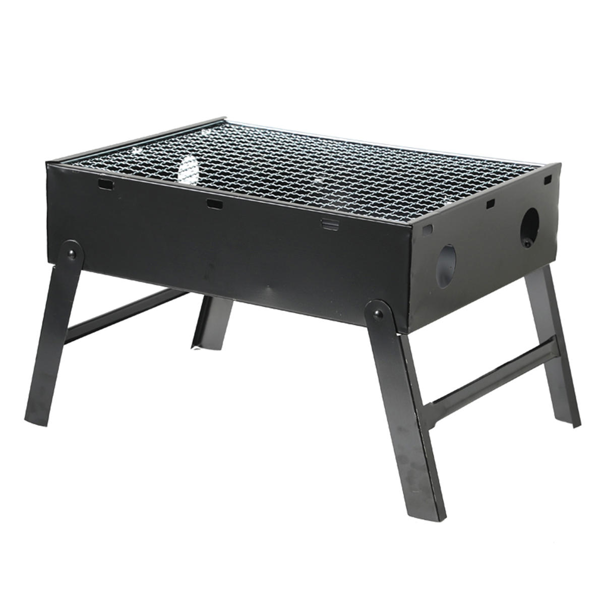 3-4 People Outdoor Portable Foldable Charcoal BBQ Grill Hibachi Barbecue Folding Cooking Stove Camping Picnic