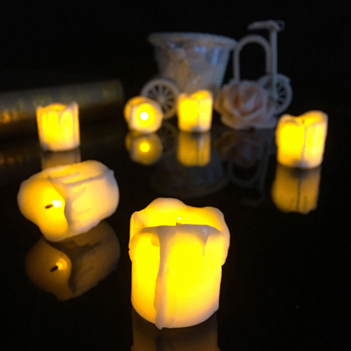 4345cm battery powered flameless led table lamp candle night light halloween christmas decoration - Christmas Decorations Battery Operated Candles