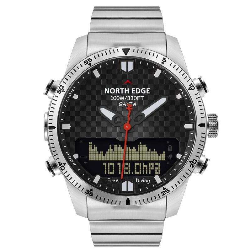 NORTH EDGE Digital 50M Dive Watches Men Altimeter Watch