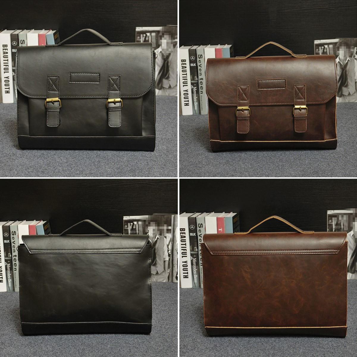 99f70dbbdbde Retro Men Bag PU Leather Men Handbags Casual Business Laptop Bag Messenger Bags  Office Bag COD