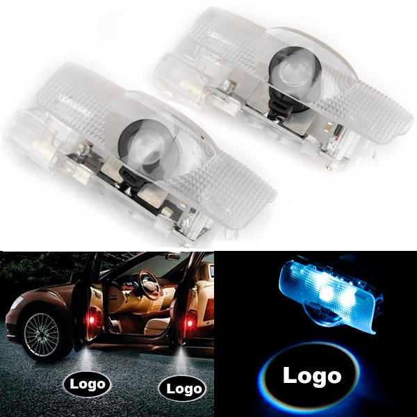 5W LED Door Welcome Lights Ghost Shadow Lamp 2Pcs with Car Logo for Toyota