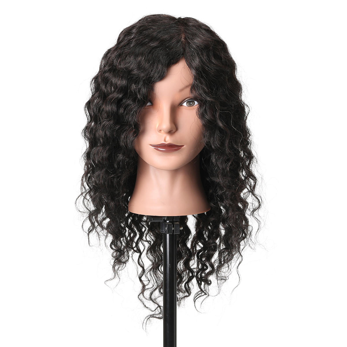 18'' 100% Real Human Hair Salon Hairdressing Training Practice Mannequin Head