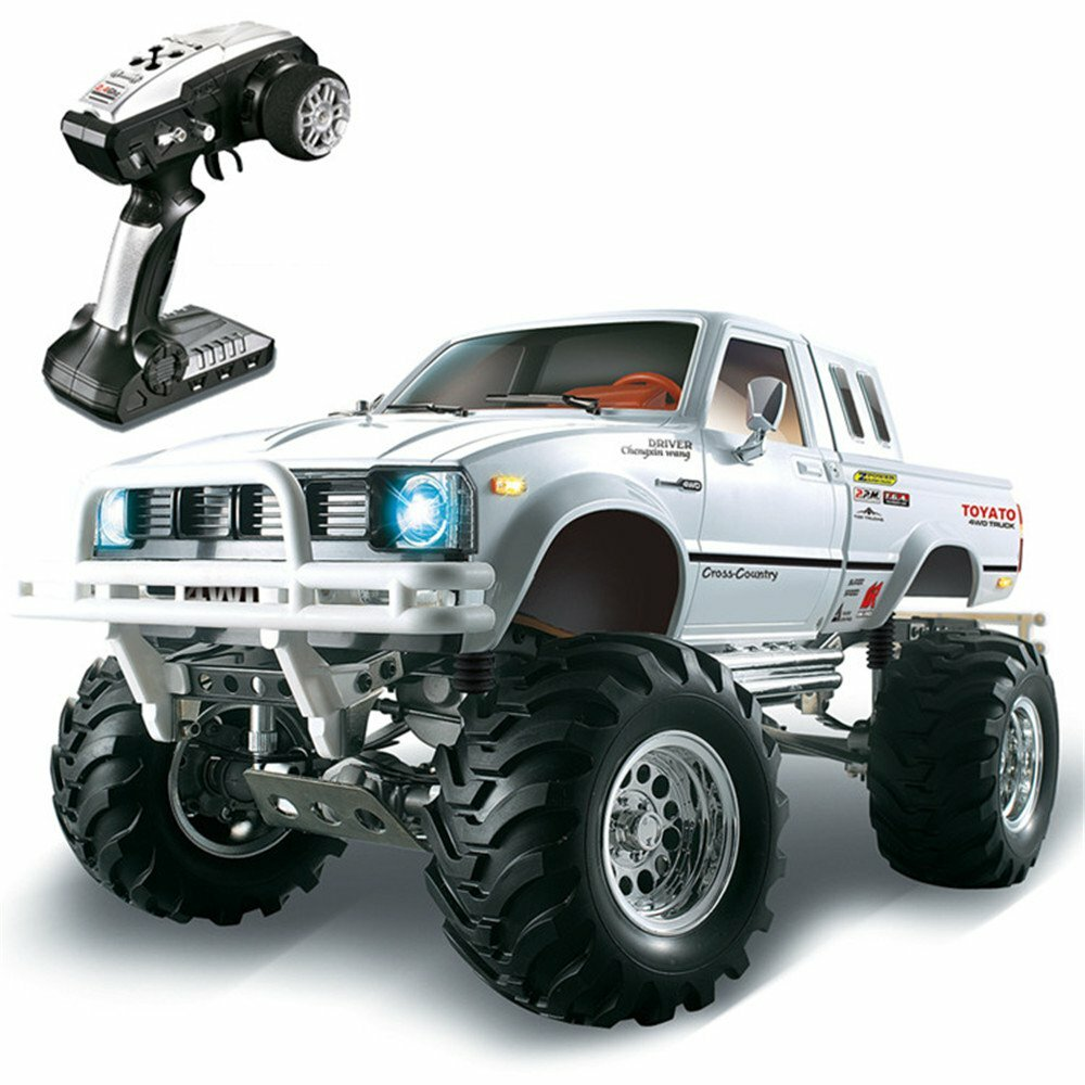 HG P407 1/10 2.4G 4WD Rally Rc Car for TOYATO Metal 4X4 Pickup
