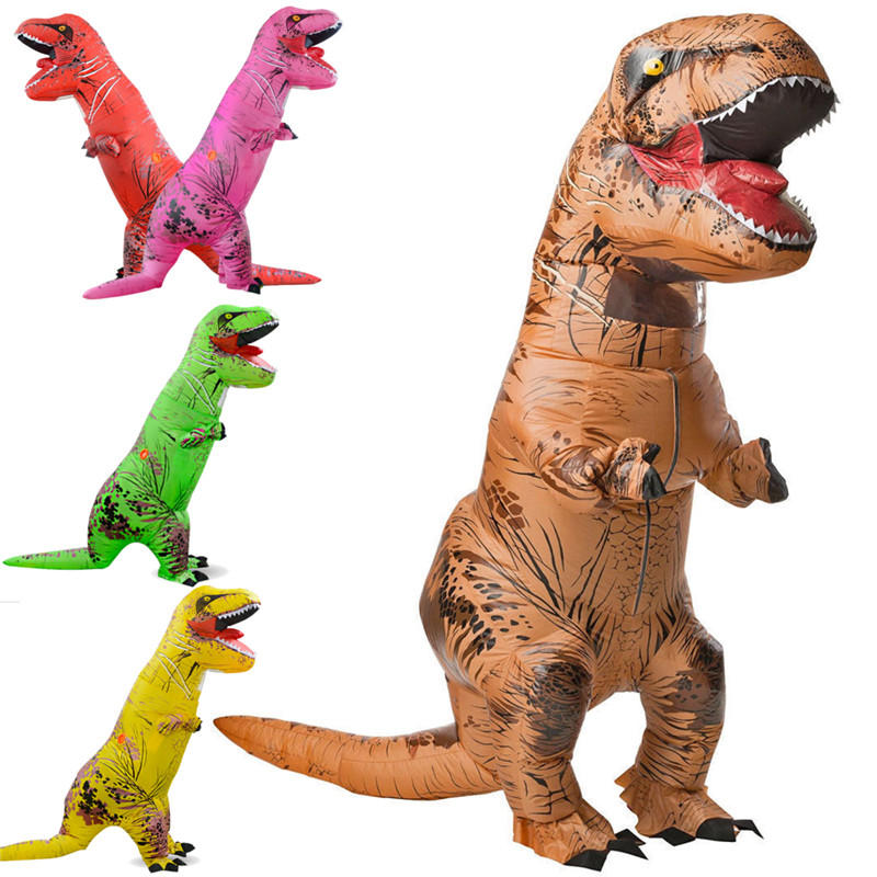Learned 3d Adult Inflatable Dinosaur Costume Halloween Dress Party Cosplay Suit 4 X Aa Batteries/usb Power Supply Dinosaur Costume Moderate Price Costume Props Costumes & Accessories