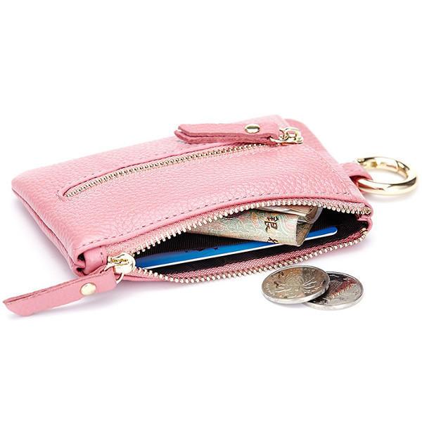 4ae9247c4d2 Genuine Leather Women Zipper Card Holder Girls Small Coin Bags Key Chain  Bags COD
