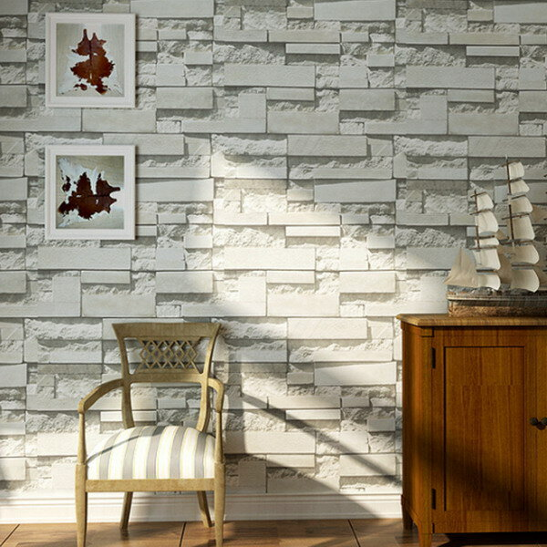 brick pattern 3d textured non-woven wallpaper sticker background