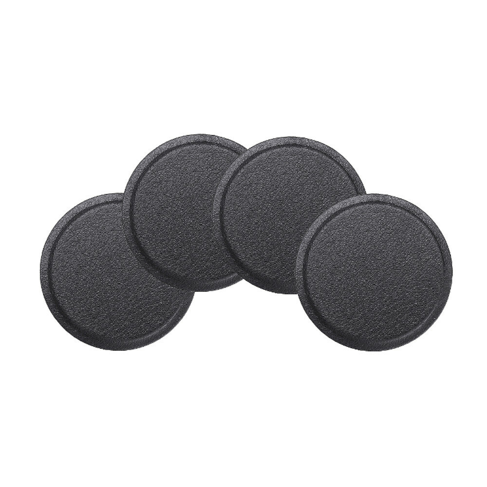 Round Metal Plate PU Leather Surface Iron Sheet Black 4PCS for Magnetic Car Phone Holder