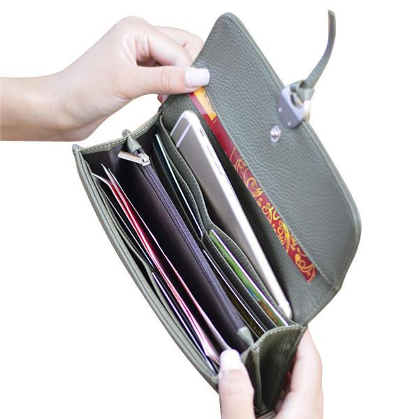 Шаблон личи засов длинный бумажник 3 сложенная держателя карты кошелек монета мешки 5.5 '' телефон случае для Iphone 7р