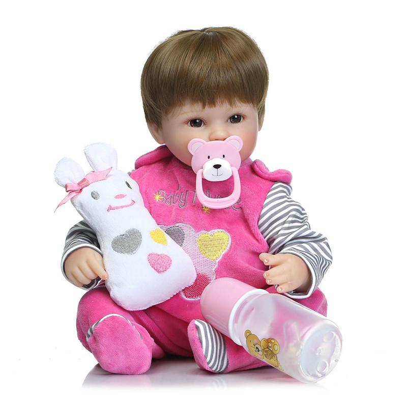 18 'Fantaisie réaliste Handmade Baby Dolls Fille Newborn Lifelike Vinyl Alive Reborn Baby Doll Handmade Toys
