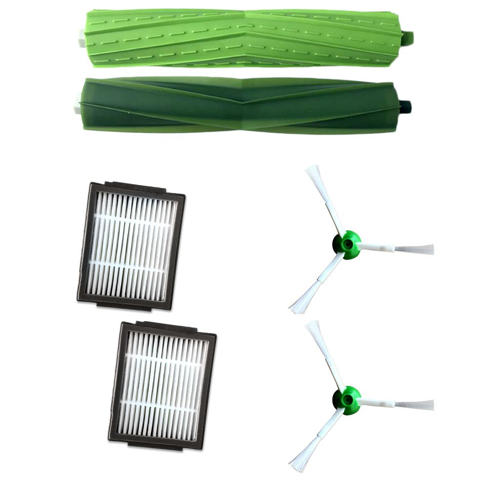 2pcs Brush Roll For Irobot Roomba I7 E5 E6 I Series Robot Vacuum Cleaner Parts Replacement Roll Brushes Accessories Kit Cleaning Appliance Parts