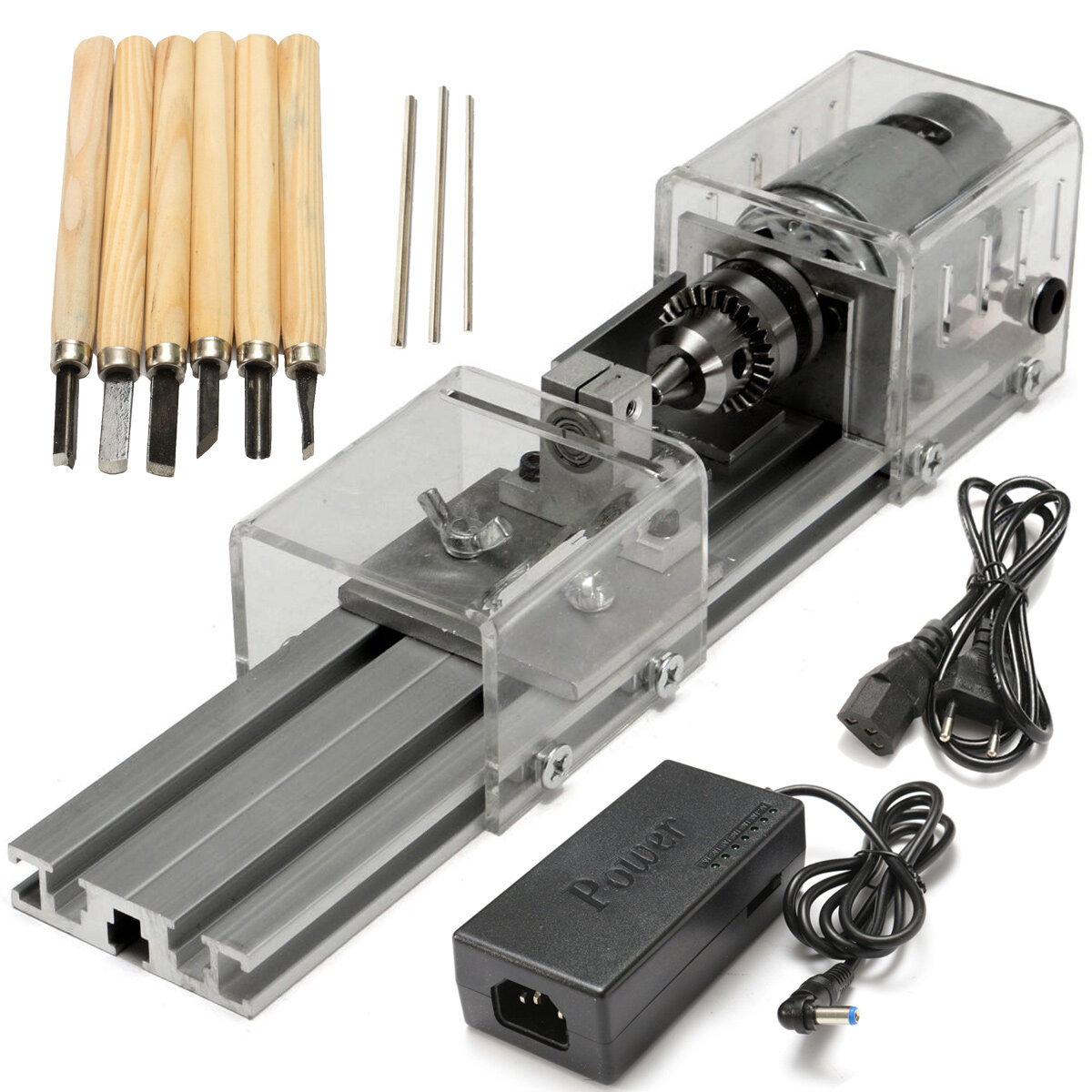 Raitool Lb 01 Mini Lathe Beads Machine Wood Working Diy Laboratory Power Supply 24v 4a Polishing Drill Rotary