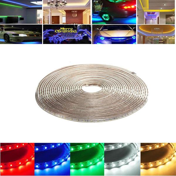 10M 35W กันน้ำ IP67 SMD 3528 600 LED เชือกถักคริสต์มาสปาร์ตี้กลางแจ้ง AC 220V