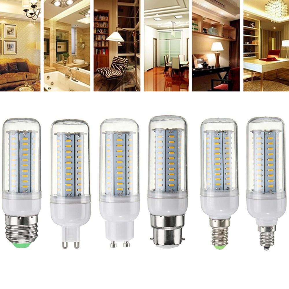Dimmable E27 E14 E12 G9 GU10 B22 6W SMD4014 Ampoule de maïs LED Ampoule Lumière AC220V