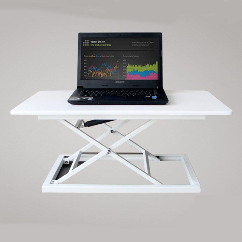 COMNENIR T10 Adjustable Height Sit Stand Desk Simple Modern Office Desk Riser Foldable Laptop Desk Notebook Stand
