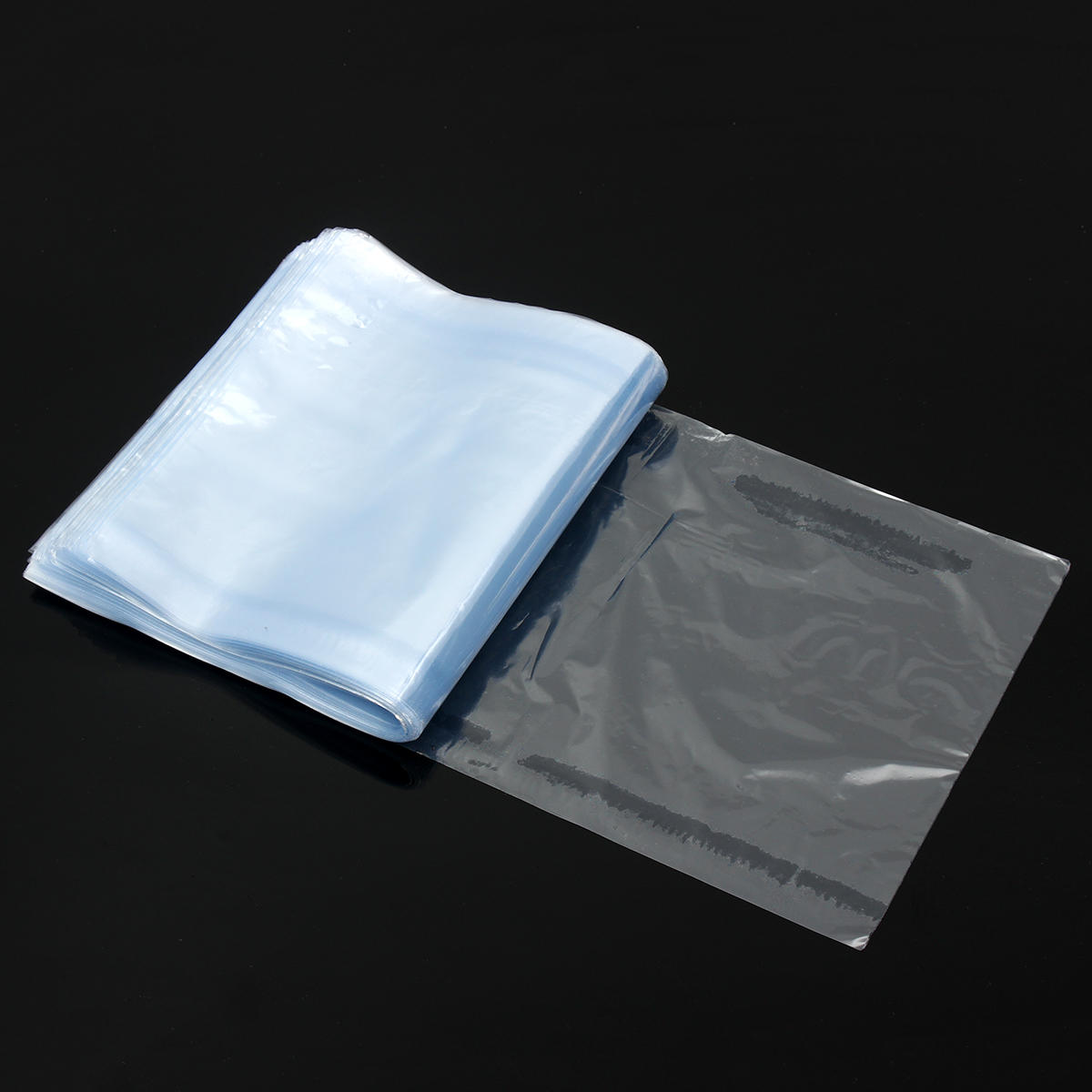 500pcs Pvc Heat Shrink Wrap Bags Film Clear Flat Poly Storage Bag Soap Candles Packaging 15