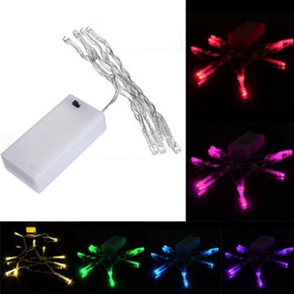 1M 10 LED แบตเตอรี่ Powered Christmas งานแต่งงาน ปาร์ตี้สตริงไฟนางฟ้า